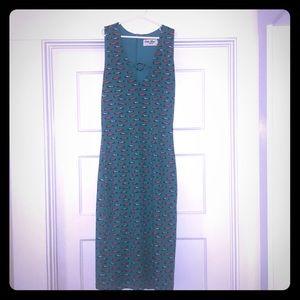 "Bettie Page ""Vintage Car"" Wiggle Dress"
